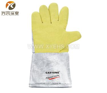 CASTONG 500度耐高温手套(铝箔护腕手背)