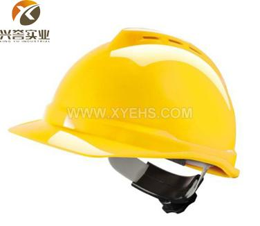 MSA V-Gard500PE豪华型安全帽(黄色)